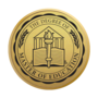 Master of Education Engraved Medallion Gold Insignia